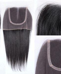 Virgin Hair Lace Closure Natural Straight